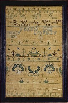 Mary Dixwell antique needlework sampler Boston, Massachusetts, c. 1760