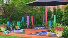 Kids garden play areas