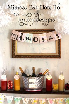 Mimosa Bar for the Bridal shower or for when getting ready for the wedding