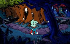 Pajama Sam!! i could never beat this game haha
