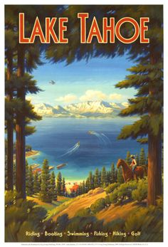 Memories of Lake Tahoe . . . We were visiting there on vacation on the day that Martin Luther King was shot.   I still remember the news coming in on the old black and white tv in our hotel room.
