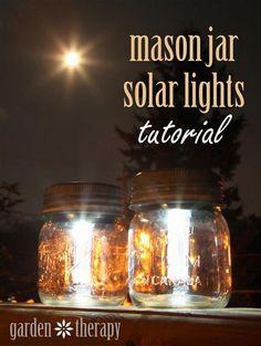 How to make mason jar solar lights. Do with plastic jars instead?