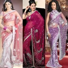 A large variety of Indian designer bridal sarees and decide which style would suit you best. magic, woman fashion, saris, colors, crepes, indian fashion, pink, beauty, india fashion