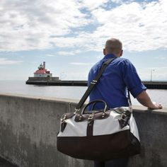 Sportsman's Duffel by Duluth Pack, made from the Metrodome roof.