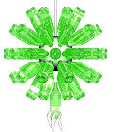 Luminária com garrafas pets