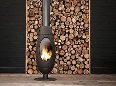 contemporary gas, free standing fireplace, modern, - Google Search