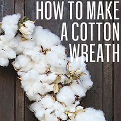 How to make a cotton wreath. #holiday #christmas #diy #gardenandgun