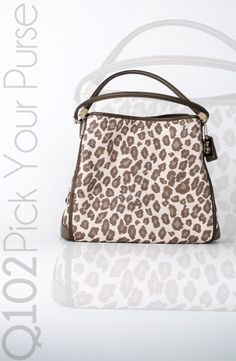 Coach - Madison Small Phoebe Shoulder Bag in Ocelot Jacquard.   Go to wkrq.com to find out how to play Q102's Pick Your Purse!