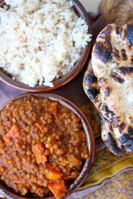 Crock Pot Indian Spiced Lentils. #vegetarian and #vegan