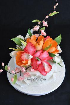 Pretty flowers by FancyThatCake, via Flickr