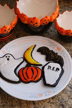 halloween chocolate cut out cookies.