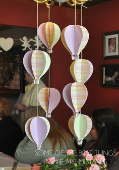 hot air balloons baby shower decorations, I love this! @Rachel R Epp you need to do this!