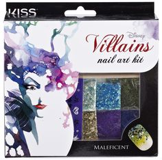 Disney Villains Nail Art Kit By #KissProducts - Maleficent