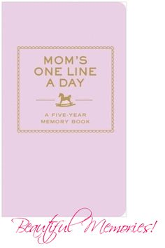 Just in at Frances.... For the busy mom-on-the-go, this memory keeper offers a quick and easy way to capture the everyday moments of motherhood. With enough space to record a single thought, a family quote, or a special event each day for five years, this beautiful keepsake makes sure those precious memories will last a lifetime.
