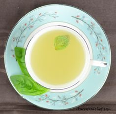 Ginger Basil Tea, http://paleomagazine.com/ginger-basil-tea/, #paleo #gf #glutenfree #recipe #diet