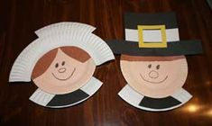 This paper plate pilgrim craft is a great Thanksgiving craft for kids! This cute pilgrim craft is made from paper plates and construction pa...