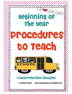 Classroom Procedures to Teach - Back to School Classroom Management