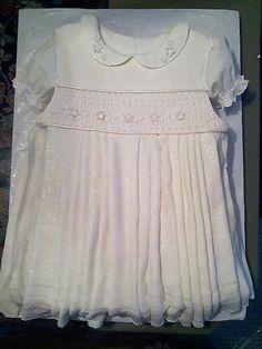 Smocked Dress Babptism Cake by Box Full of Surprises, via Flickr