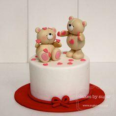 Shower me with your love | Flickr - Photo Sharing! friend cake, valentine cake, teddy bears, valentin cake, shower, mini cakes, bear cake