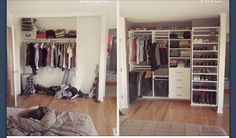 Before and After- Closet Organization