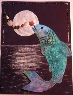 idea, art quilt, candies, quilts, quilt fish