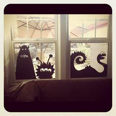 My neighbors Halloween window: Photo by brownmouse