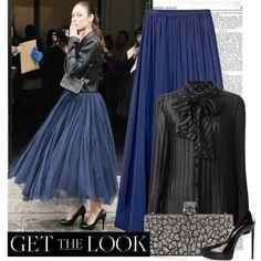 Get the Look: Olga Kurylenko in tulle skirt. Visit www.forarealwoman.com  #models #celebrities