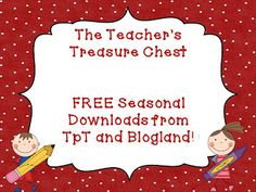 Free Seasonal Downloads From Favorite TpT Sellers!