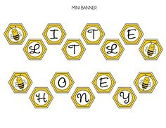 "Free ""Little Honey"" bumble bee party printables! #babyshower #birthday #bumblebee"