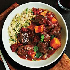 Best Recipes for Winter Vegetables and Fruits | Beef Tagine with Butternut Squash | CookingLight.com