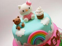 Helly Kitty Fondant Cake