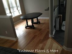 The variation in natural hickory complements many different colors.  Recent installation by Enhance Floors & More Mohawk Flooring Barnsley Hickory color Country Natural