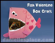 Fish Valentine Box Craft from www.daniellesplace.com
