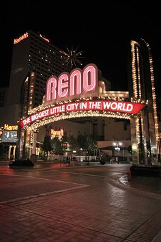 Reno, Nevada.  Have never stayed in Reno but have passed through a couple of times.  We flew into the airport here on our Lake Tahoe ski trip as well.