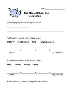 the magic school bus on pinterest teacher lesson plans food chains and activities. Black Bedroom Furniture Sets. Home Design Ideas