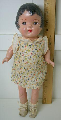 Sweet vintage antique composition doll  -