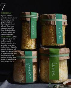 Citrus Salt Labels I Whole Living December, 2012.