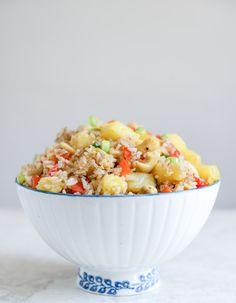 pineapple cashew fried rice // how sweet it is