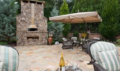 new houses, dream backyard, patio, outdoor fireplaces