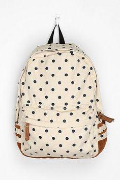 Carrot Polka Dot Backpack via @Ashley Walters Walters Goldberg