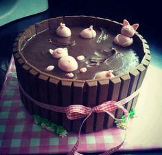 Piggy Cake :) idea, cakes, food, pigs, cake decor, mud cake, recip, yummi, dessert