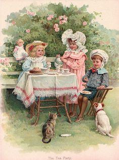 A Victorian Tea Party.............