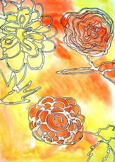 kid art projects, art museum, watercolor glue art, watercolor crafts, water color