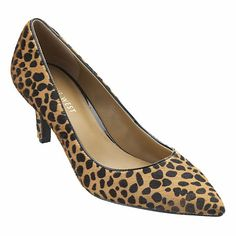 "Nine West Adriana pump in natural combo pony, $89: ""These cheetah-print heels would be a perfect compliment to the green dress -- and less obvious than leopard. The mid-heel is also, again, appropriate for family."" - Lauren I."