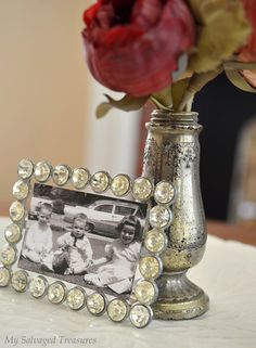 Rhinestone buckle photo frame