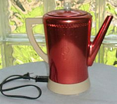 Vintage 1950s West Bend Red Coffee Pot