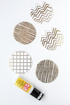 preserve your paper coasters with mod podge