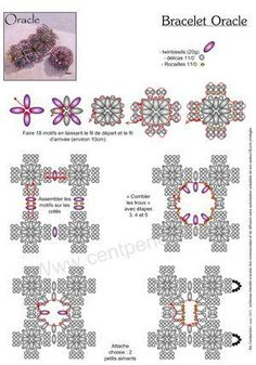 Oracle Bracelet: Free tutorial with Preciosa Twin Beads