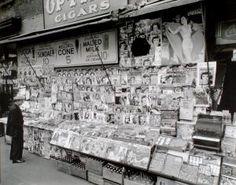 Newsstand, 32nd Street and Third Avenue, Manhattan.