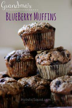 Grandma's Blueberry Muffins - Holistic Squid